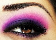 A very dramatic purple smokey eye to liven up this dreary Tuesday morning.
