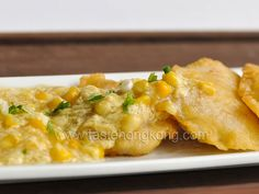 Fried Fish Fillets with Corn Sauce. Fried Fish Fillets with Corn Sauce Egg Recipes, Salmon Recipes, Seafood Recipes, Pan Fried Tilapia, Fried Fish, Asian Fish Recipes, Authentic Chinese Recipes, Creamy Corn, Favorite Recipes