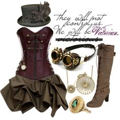 """Uprising"" by princesschandler on Polyvore This is not the style I'd typically like, but I have to admit this outfit is super cute. Not sure if it's something I'd be able to pull off or just wear out, but I love everything minus the goggles. LOVE the boots and the hat :)"