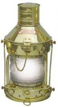 Ankerlampe Messing, elektrisch 230V, H: 39cm