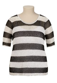 Stripe Sequin Sweater - maurices.com
