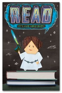 Princess Labelmaker Poster - New Products - Posters - ALA Store.and bookmark! Star Wars Origami, Origami Yoda, Star Wars Classroom, New Classroom, Classroom Themes, Reading Day, Reading Library, Reading Incentives, Reading Posters