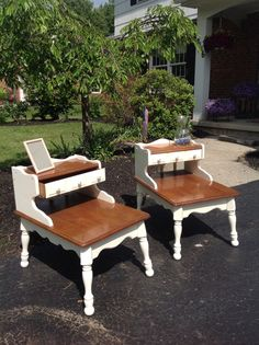 Mid Century Two Tiered End Table By RoadsideRestorations On Etsy