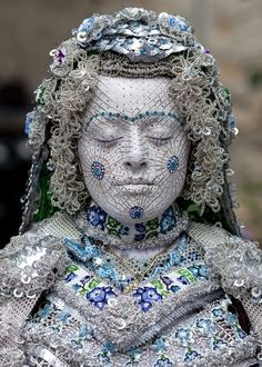 Painted Bride in Traditional Makeup from Kosovo