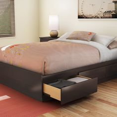 South Shore Full Platform Bed with Underbed Storage & Reviews | Wayfair