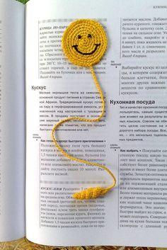 Gehäkelte Lesezeichen lächelndes Gesicht Buch Zubehör Knitting For BeginnersKnitting For KidsCrochet PatronesCrochet Scarf Marque-pages Au Crochet, Chat Crochet, Crochet Mignon, Crochet Motifs, Crochet Amigurumi, Crochet Books, Crochet Purses, Thread Crochet, Crochet Gifts