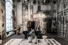<p>The genteel traditions of the English drawing room have been redrafted by designer Faye Toogood. Visitors to the building are invited to relax in an environment that evokes a derelict country house – although in this case the surrounds have been literally drawn in. The furniture is an intriguing combination of abstracted cardboard sculptures, a […]</p>
