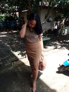 outfit of the day beautiful brown