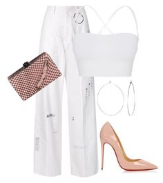 """""""Untitled #95"""" by nelafashion ❤ liked on Polyvore featuring Hyein Seo, Theory, Phyllis + Rosie, Edie Parker and Christian Louboutin"""