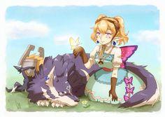 Midna, Wolf Link, and Princess Agitha (^o^)/