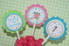 Owl First Birthday - Girl