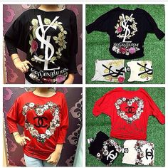 Forsale  Kode: kaos ysl & chanel  Fit to : xl Price : 75.000  Contact by order:  Line : yukiyusmarisaa Hp : 082121511886