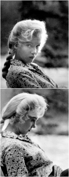 *m. Marilyn on the set of River of No Return, 1953.