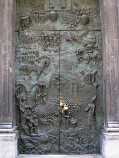 St Nicholas' Church Door      The beautiful door of St. Nicholas' Church in Ljubljana, Slovenia
