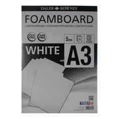 The dense foam section is sandwiched between two thin card layers, which allow ink, paint and crayons and PVA glue to adhere to the surface easily Paper Manufacturers, A3, Surface, Packing, Canvas, Feathers, White People, Bag Packaging, Tela