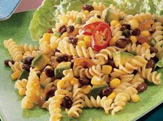 Santa Fe Black Bean And Pasta Salad - Enjoy a Mexican twist to regular pasta salad recipe made using Progresso® black beans, Green Giant® Niblets® corn. A tasty dinner ready in 20 minutes.
