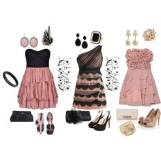 Pretty in pink, created by dana-corsbie on Polyvore