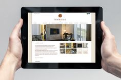 Brand Identity und Website iPad Hotel Villa Honegg