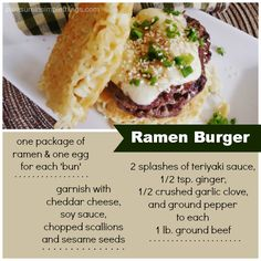 recipe for a ramen burger on this food trend post.