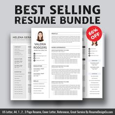 Instant Download The Elisa Resume  Icon Files Professional