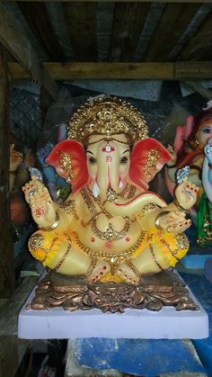 Idol at my home this year for #ganeshchaturti #ganpati #ganesha