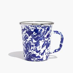 Based in Arlington, Virginia, family-run Golden Rabbit has been making ultra-durable, stove-to-table enamelware since 1989. We love the bold marbled design on this lightweight mug.  <ul><li>Steel, porcelain enamel.</li><li>Import.</li></ul>