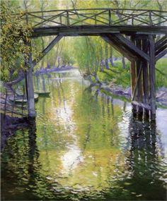 The Old Bridge, France - Guy Rose