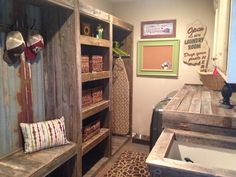 Rustic Laundry Room, LoVe!