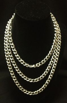 Sarah Conventry Vintage Jewelry Silver Tone Stainless Steel Necklace!