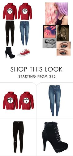 """""""Thing 1 Thing 2"""" by babygirlkenzie0713 on Polyvore featuring Good American, Converse and Music Notes"""