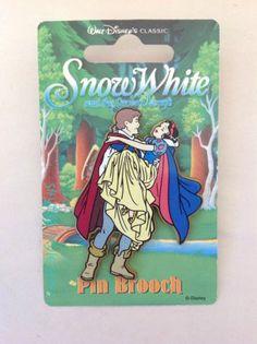 Snow White Prince Charming Pin Brooch UK Seven Dwarfs European Disney Card