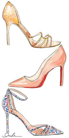 shoes, illustrated