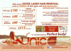 Laser hair removal promotions for August 2015