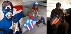 Captain America has always been a classic icon but its also amazing to see how fans have spun it! Here's two version of Cap plus a Bucky! Left to right is Andrea, Princess Mentality Cosplay and Ole-Willhelm. These three cosplayers are a true tale of the internationality of fandom, as they hail from Italy, US and Norway!  Photos by Moggio Manuel, Eurobeat Kasumi Photography and  Ole Kristian Haagenrud.    Marvel's use of all photos are governed by the Marvel.com Terms of Use and Privacy Policy.