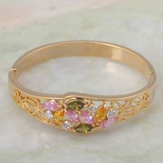 Find More Bangles Information about Brand designer Bracelets & bangles 18K gold plated Colerful cubic zirconia , fashion jewelry B097,High Quality Bangles from Dana Jewelry Co., Ltd. on Aliexpress.com