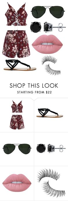 """""""Untitled #246"""" by anastasija-818 ❤ liked on Polyvore featuring Sole Society, Ray-Ban, BERRICLE, Lime Crime and Trish McEvoy"""