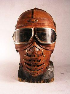 Steampunk Leather Mask | Artist: Bob Basset