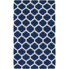 Frontier Carpet - Navy Blue & White -$450