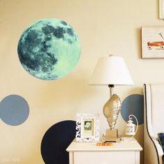 30cm Large Full Moon Moonlight Glow in Dark Wall Sticker DIY Home Decoration New   eBay
