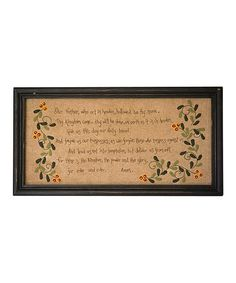 Look at this #zulilyfind! 'Our Father' Prayer Framed Wall Art by Pearson's Simply Primitives #zulilyfinds