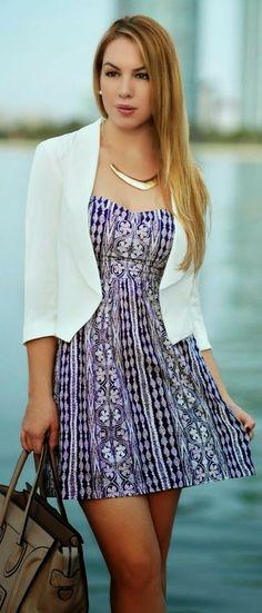 Summer fashion: Charlotte Russ Purple Shoulder Sundress