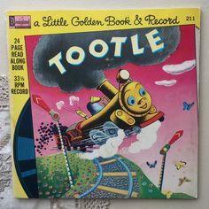 1976 Tootle - A Little Golden Book & Record Vintage Children's Books, Vintage Postcards, Golden Anniversary, Little Golden Books, Lazy Sunday, Little Puppies, Vintage Labels, Vintage Advertisements, Over The Years
