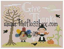 Thanksgiving Cross Stitch Pattern por Theflossbox en Etsy