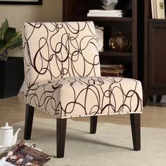 Comfortable Chocolate Swirl Print Lounge Chair | Overstock.com
