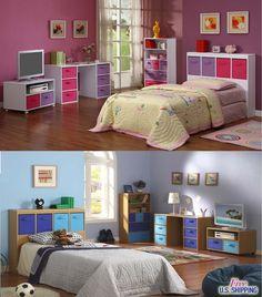 Children Bedroom Furniture Desk Bookcase Storage TV Stand Headboard Kid Boy Girl