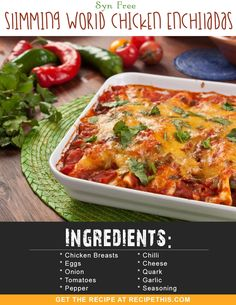 limming World Enchiladas. How to make Slimming World Syn Free Enchiladas in the air fryer. Loaded with seasoned chicken breast, a quick blender…… Slimming World Dinners, Slimming World Chicken Recipes, Slimming World Recipes Syn Free, Chicken Recipes For Kids, Recipe Chicken, Slimming World Lunch Ideas, Slimming Eats, Healthy Eating Tips, Healthy Dinner Recipes