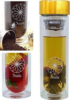the nalu sun bottle glass water bottle fruit infuser coffee maker u0026 insulated