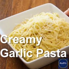 *VIDEO* Creamy Garlic Pasta - If you love flavorful one pot meals, you've got to try our family favorite Creamy Garlic Pasta! A one pot meal at it's finest. My kids ask for seconds! #dinner #maindish #lunch #pasta #garlicpasta #garlicspaghetti #garlic #30minutemeal #onepot #onepotmeal #onepotpasta #recipe #numstheword #video