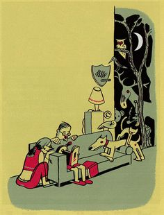 De Gouden Uil  by Ever Meulen, 2007  Illustration for the golden owl, a yearly literary award.