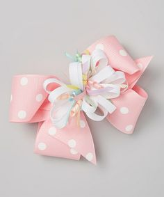 Another great find on #zulily! Pink Polka Dot Bow Clip Set by Picture Perfect Hair Bows #zulilyfinds